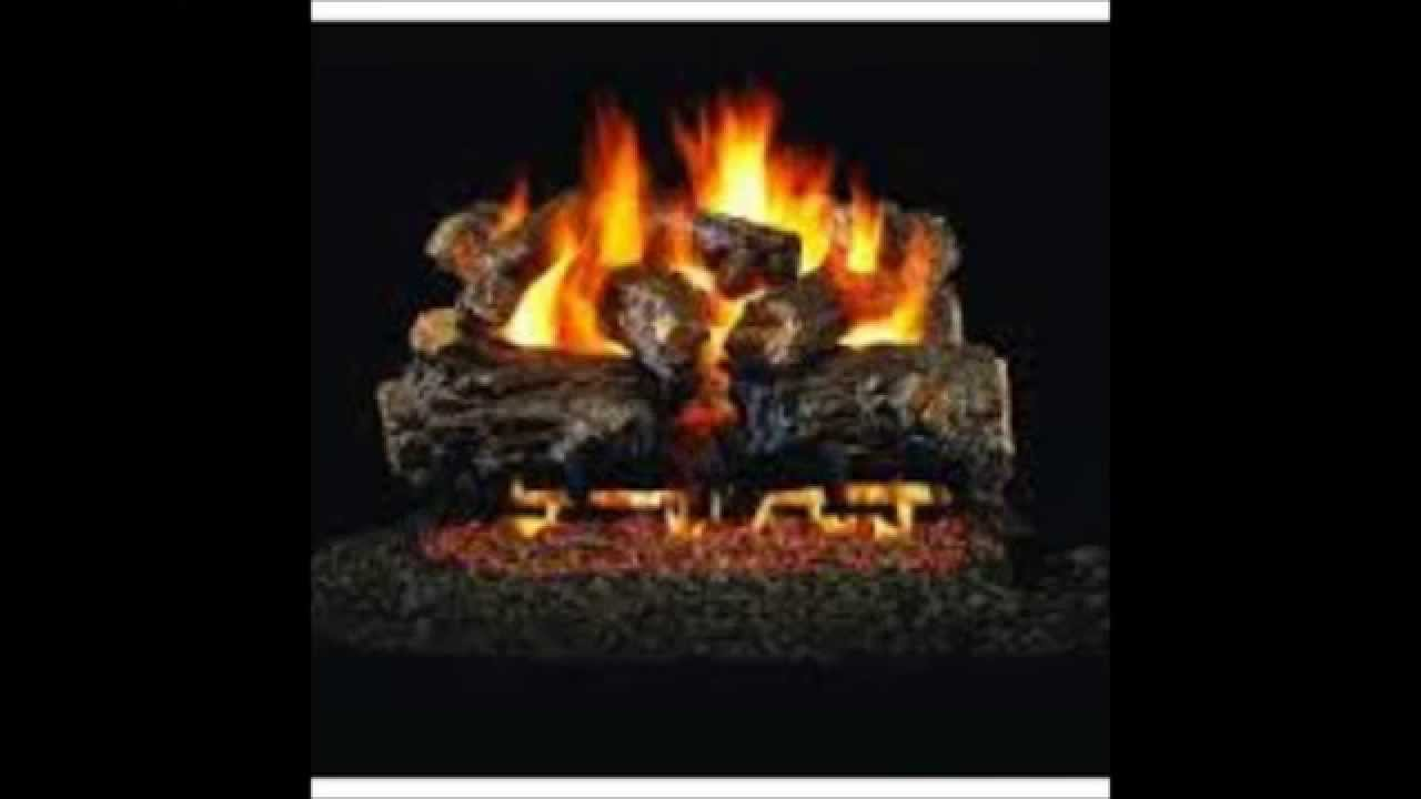 real flame outdoor log set youtube