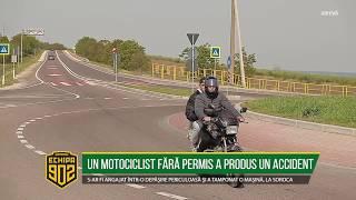 UN MOTOCICLIST FĂRĂ PERMIS A PRODUS UN ACCIDENT