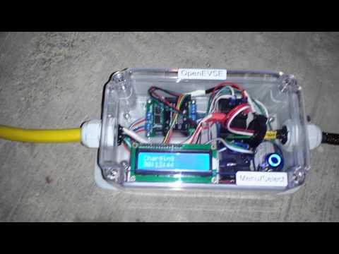 120v 240v 30A EVSE portable demo - Level 2 EV charging station