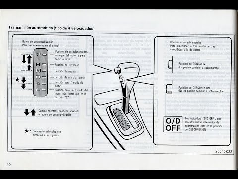 ¿Para qué sirve el O/D (OverDrive) en tu caja automática?