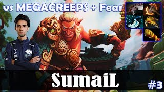 SumaiL - Troll Warlord Safelane | with YawaR | vs MEGACREEPS + Fear | Dota 2 Pro MMR Gameplay #3