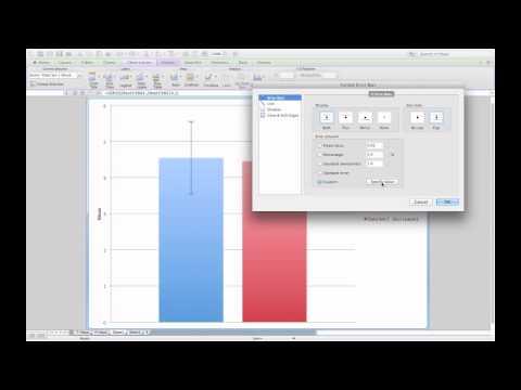 Adding standard error bars to a column graph in Microsoft Excel