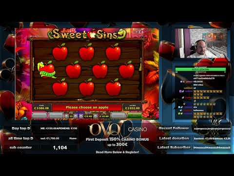 Big Win From Sweet Sins Slot At OVO Casino!! - 동영상