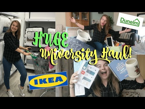 ABSOLUTELY MASSIVE FIRST YEAR UNIVERSITY HOMEWARE HAUL! | IKEA, Dunelm Mill, Argos, The Range + More