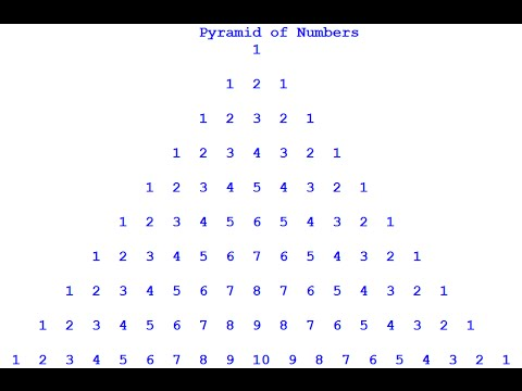 How to Create Pyramid of Numbers using For Loop in Python