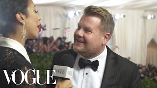 James Corden on Ocean's 8 and the Met Gala | Met Gala 2018 With Liza Koshy | Vogue