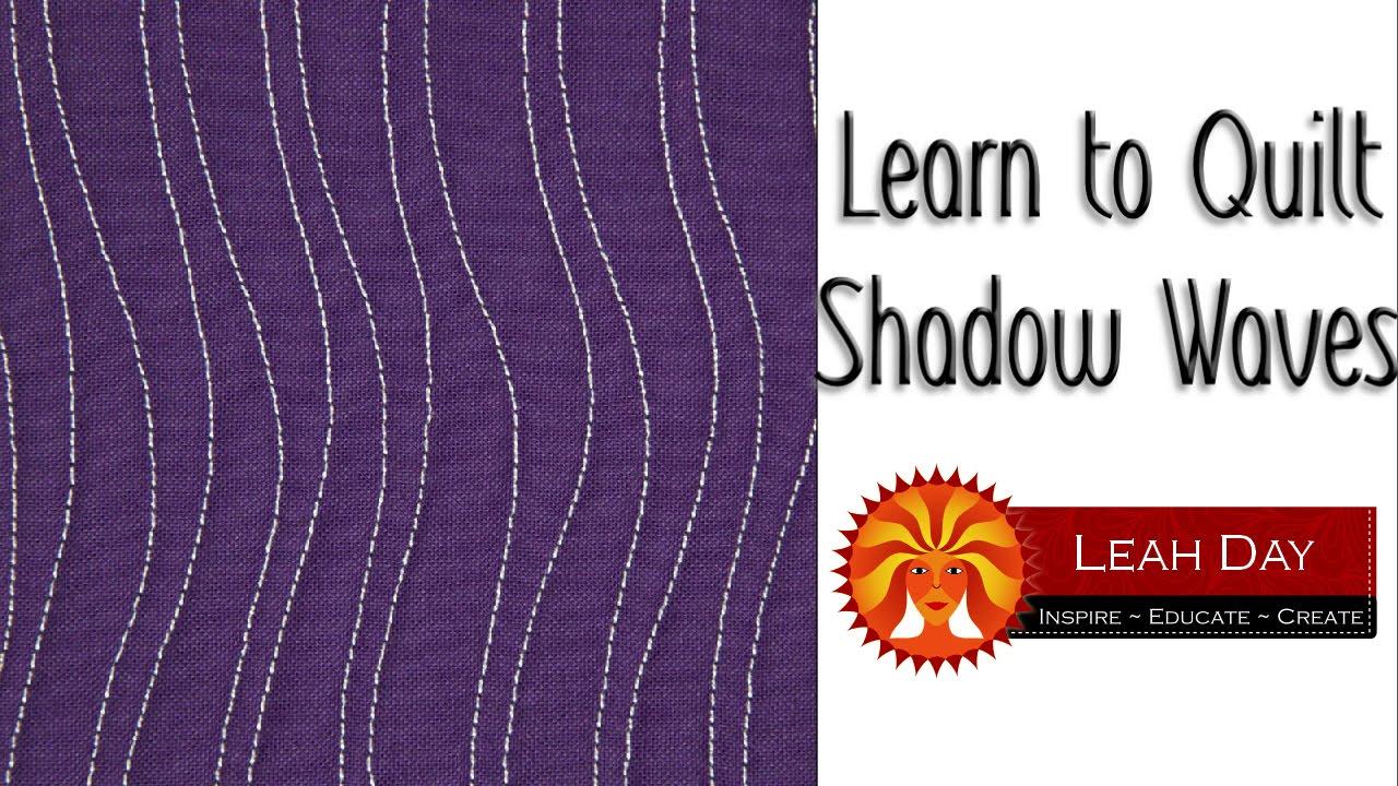 Machine Quilt Shadow Waves, Free Motion Quilting Filler Design #1