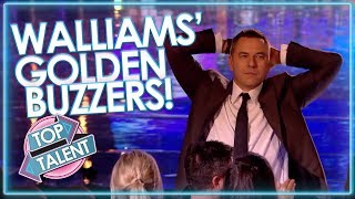 ALL DAVID WALLIAMS GOLDEN BUZZERS! | Top Talent