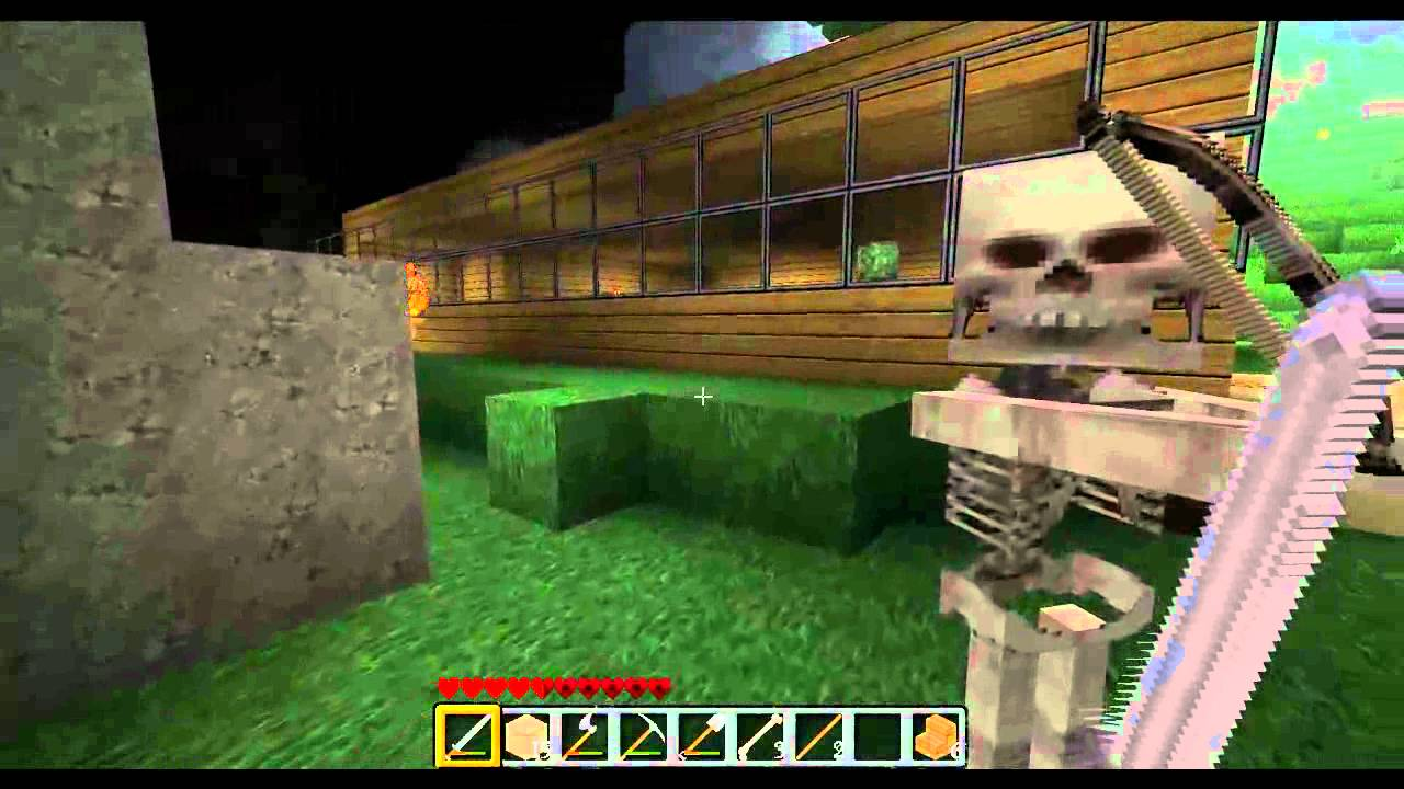how to make a skeleton on minecraft
