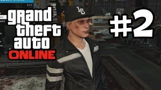 Grand Theft Auto Online Part 2 Gameplay Walkthrough - Customization & Store Robbery  (GTA 5 Online)