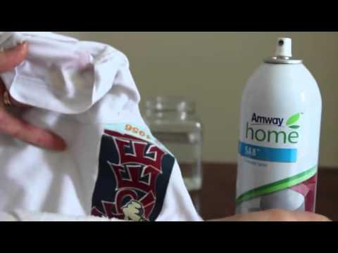 Amway Ürünlerinin Mucize gösterisi deneyi  All Fabric Bleach & Prewash Spray