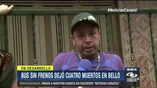Cuatro muertos y siete heridos deja accidente de tránsito en Bello, Antioquia  - 14 de Octubre 2014