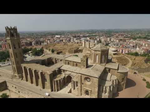 DJI Catedral la seu vella Lleida Barcelona