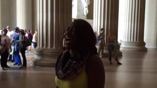 "Star Swain sings ""The National Anthem"" live at the Lincoln Memorial in Washington, D.C. 6/16/16"