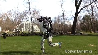 Boston Dynamics' Atlas robot goes for a first  run in the Suburbs
