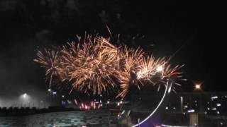 Салют в Олимпийском парке Сочи