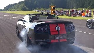 662HP Ford Shelby Mustang GT500 SVT Drag Race!