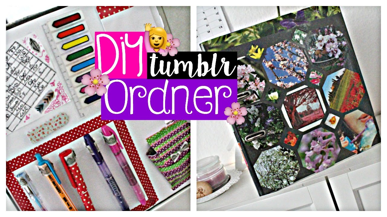 Diy Tumblr Ordner Mylifestyle Youtube