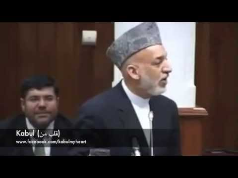 Hamid Karzai's Speech about Division of Afghanistan