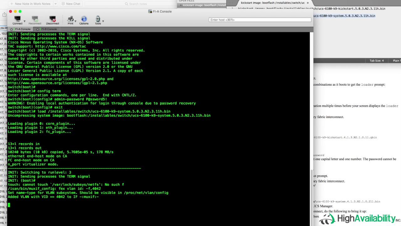 Cisco UCS Password Reset Walk-Through