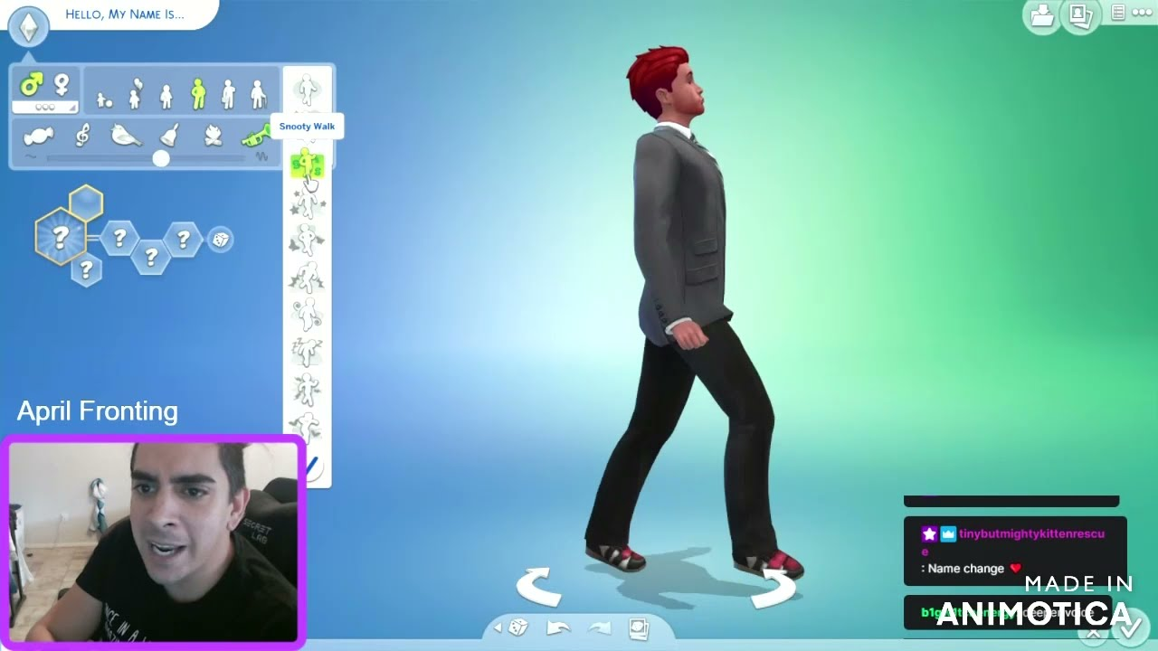 (TW: Switching)Alex and Art from The A System make Alex in Sims 4.