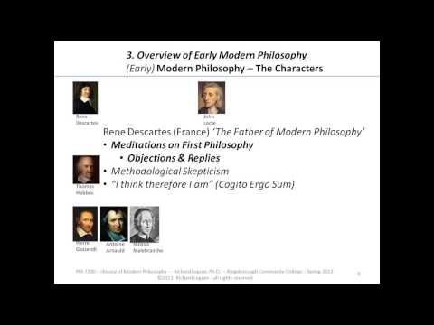 an overview of modern philosophies of A survey of the history of western philosophy philosophy pages dictionary study guide logic f a q s history timeline philosophers early modern philosophy.