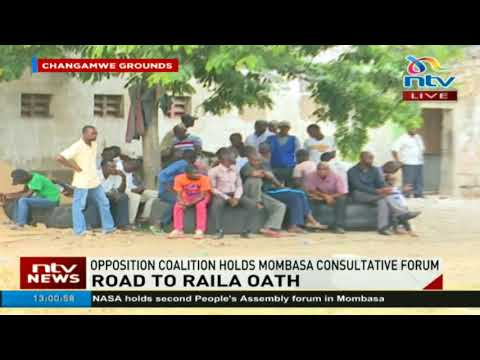 Opposition coalition Nasa holds Mombasa consultative forum
