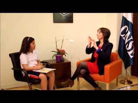 Alumnos sordos de 4º de Primaria entrevistan a Concha Díaz