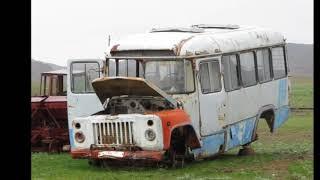 Ферма  брошенный автопарк комбайнов, тракторов, грузовиков, автобусов