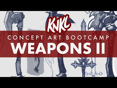 Concept Art BOOT CAMP 5: ENDLESS WEAPON IDEAS! (How to not get STUCK on one design!)