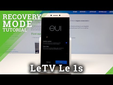 How To Enter Recovery Mode In LeTV Le 1s – Android System Recovery
