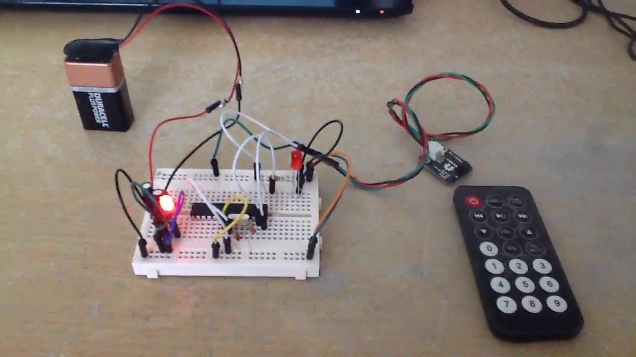 Arduino How To Work With The Ir Receiver Module Youtube Infraredtransmittercircuitlabeledonbreadboardjpg