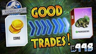 GUARANTEED GOOD TRADES !!! || Jurassic World - The Game - Ep 448 HD