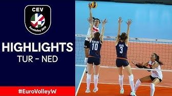 #EuroVolleyW | Turkey - The Netherlands | QF Highlights