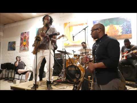 Chris Dave Drumhedz w. Kebbi Williams @ Music in the Park ATL - Sun May/1/2016