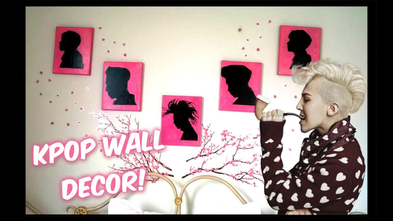 K Diy Kpop Wall Silhouettes Home Decor Youtube
