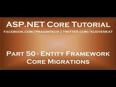 Entity Framework Core Migrations