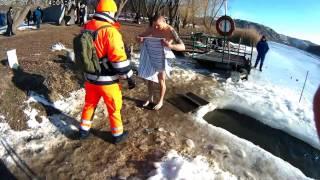 Крещение 2017. Окунулся в прорубь реки Южный Буг (Южноукраинск)