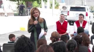 Entrega Gobernadora obras de pavimentación en Villa Pesqueira