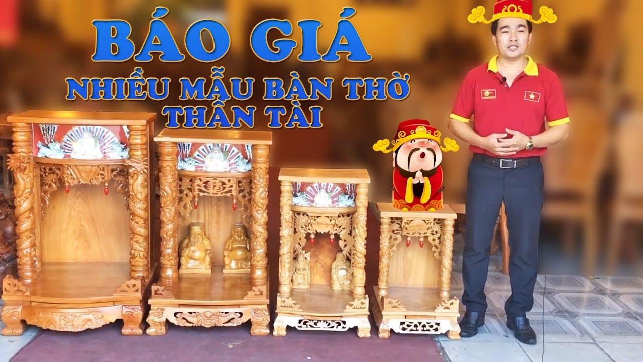Báo Giá – Nhiều mẫu bàn thờ thần tài thổ địa đẹp | noithatsondong.com
