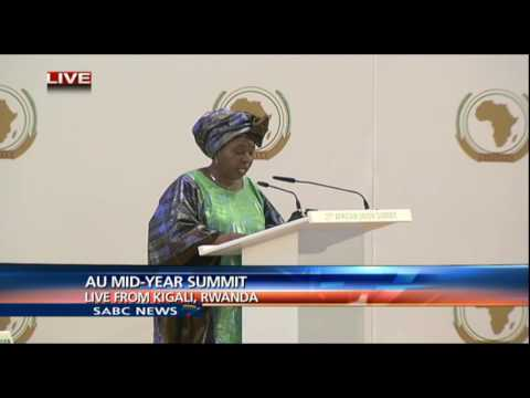 Dlamini-Zuma addresses the opening of the AU Mid-Year Summit