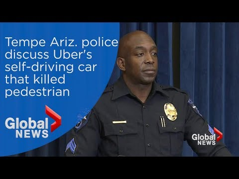 Tempe Ariz. police discuss Uber's self-driving vehicle that struck, killed pedestrian