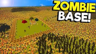 I Built the Ultimate Zombie Apocalypse Base to Survive Against the Biggest Army in SwarmZ!