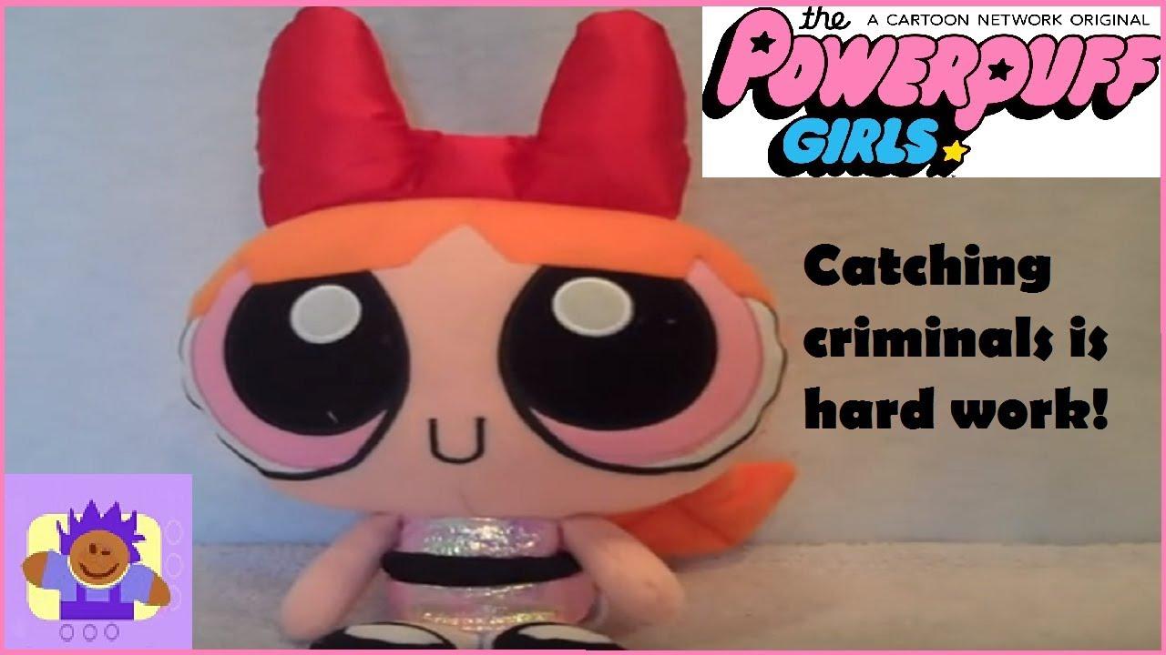 2000 Cartoon Network Powerpuff Girls Talking Blossom Plush Doll By