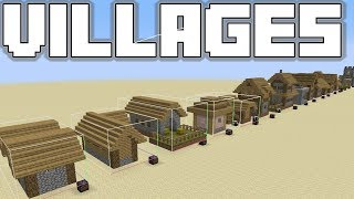 Minecraft 1.14 - All new Village Structures - A detailed look at Plains Villages!