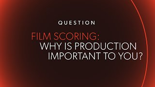why is production so important for you? ask me anything
