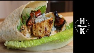 Chicken Curry & Mint Yogurt Wrap