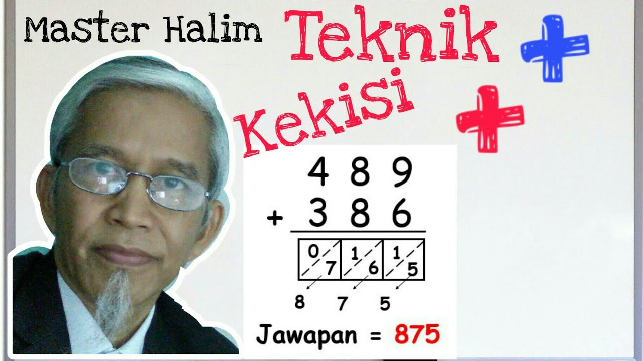 ADDITION. ADD NUMBERS. MATEMATIK SUPER - master halim - TAMBAH NOMBOR (KEKISI)