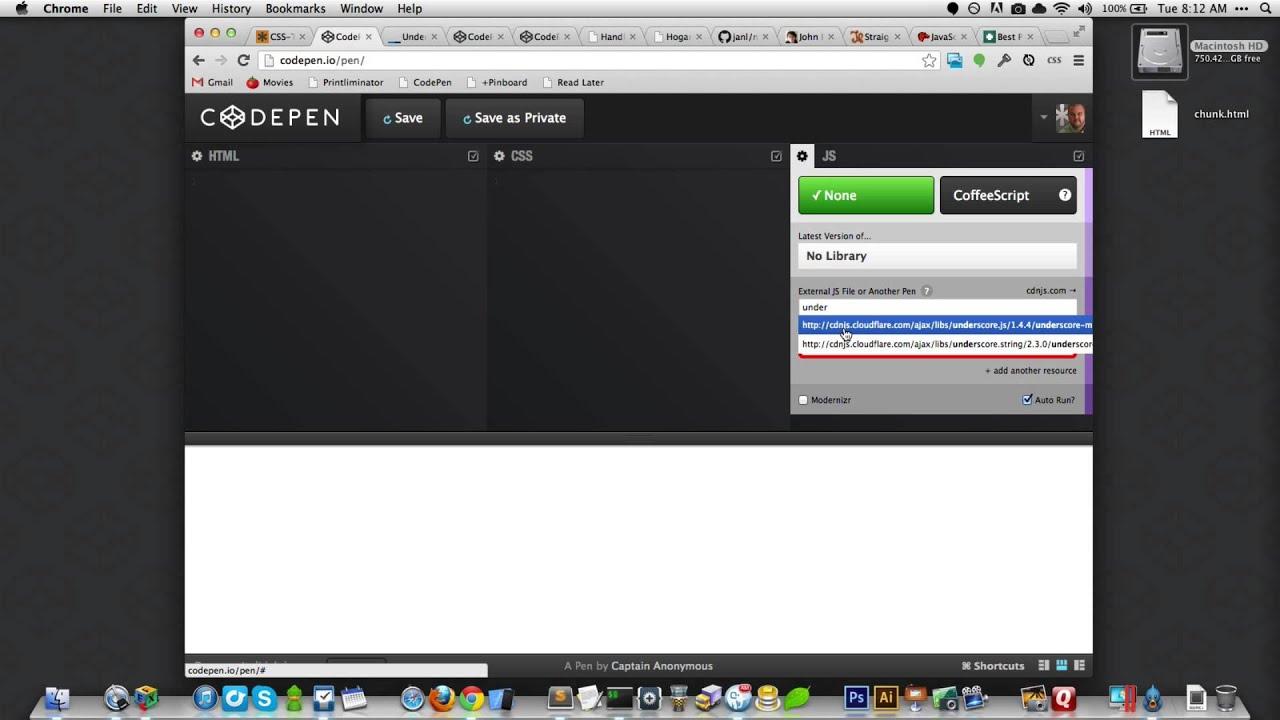 CSS-Tricks Screencast #127: Basics of JavaScript Templating - YouTube