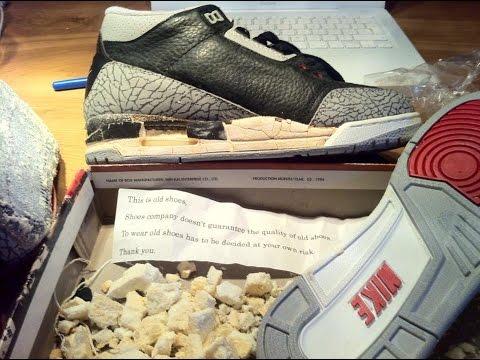 c2ca6d93a0c924 Nike Air Jordan 3 Black Cement (1994) Sole Swap by Majestic Sole Sneaker  Renovations